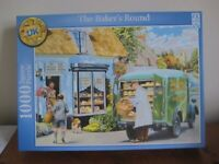 1000 PIECE JIGSAW PUZZLE. THE BAKER'S ROUND. COMPLETE