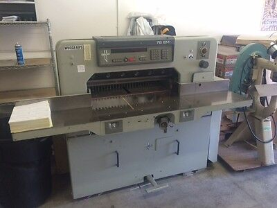 Polar Model 76 Em 30 Programmable Paper Cutter With Air Table Challenge