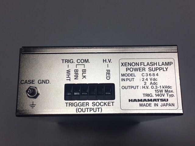 Hamamatsu Xenon Flash Lamp Power Supply Model 3684 Excellent Condition