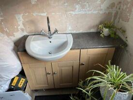Bathroom vanity unit basin and taps - FREE