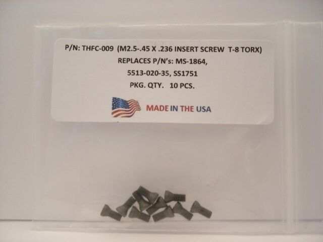 10 Pieces THFC-009-MS-1864 Insert Screw