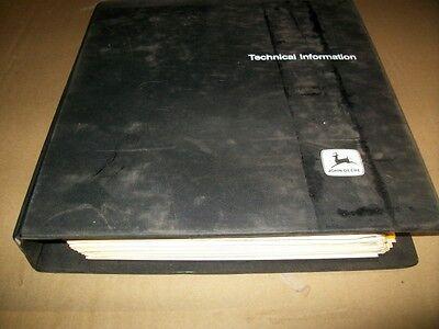 Originaljohn Deere Waterloo Servicetechnical Manualdealer Binder