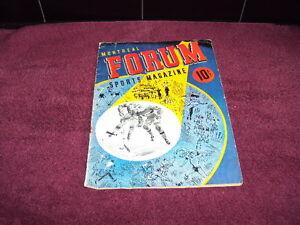Dec. 25th 1943 Montreal Forum Hockey Program (ORIGINAL)