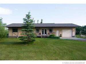 RED DEER COUNTY, 14.68 ACRES, BUNGALOW FULLY FINISHED