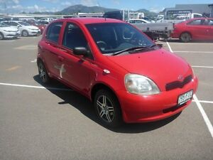 1999 Toyota Echo NCP10R Red 5 Speed Manual Hatchback Vincent Townsville City Preview