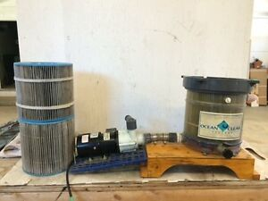 Fish Tank Canister Filter, Electric Pump & Filter Cartridges