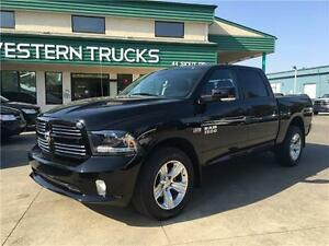 2015 Ram 1500 Sport~ 4x4 ~ Hemi ~ 8speed ~ Heated/Cooled Leather