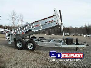 GALVANIZED DUMP TRAILERS, EQUIPMENT TRAILERS