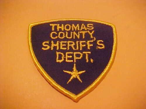 THOMAS COUNTY KANSAS POLICE PATCH SHOULDER SIZE UNUSED TYPE 2