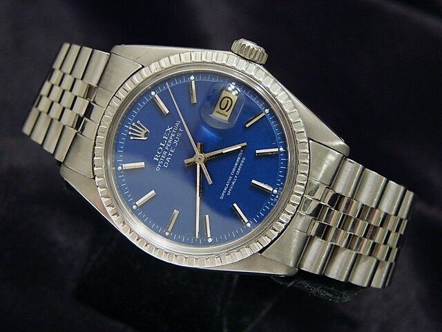 Rolex Datejust Mens Stainless Steel W/ Submariner Blue Dial & Jubilee Band 1603
