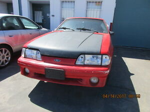 1988 FORD MUSTANG GT COBRA SHELL, NO ENGINE OR TRANSMISSION