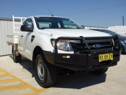 2013 Ford Ranger PX XL Super Cab White 6 Speed Manual Utility
