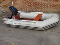 Inflatable boat dinghy yacht fishing boat tender with 2.3hp outboard motor engine