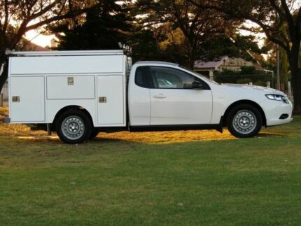 2010 Ford Falcon FG Super Cab White 4 Speed Sports Automatic Cab Chassis Strathalbyn Alexandrina Area Preview