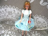 1963 1st BLONDE FLIP MIDGE DOLL,RARE NO FRECKLES,TAG DATE DRESS