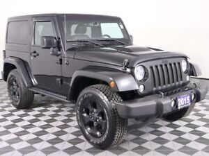 2015 Jeep Wrangler Sahara with Leather, Remote Start, Hard Top,