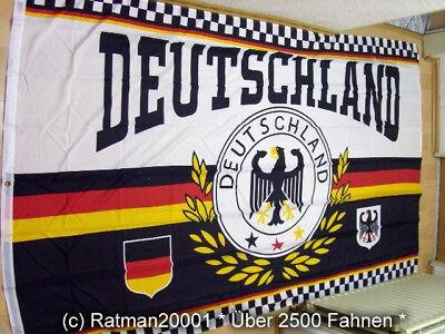 Fahnen Flagge Deutschland Sport Lorbeerkranz Fußball WM - 2 - 150 x 250 cm