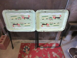 50s cool tv trays great wall hangers