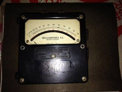 Analog Ac Ampere Meter Rang 0 - 150300 Ma Weston Electrical Instrument