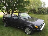 Solid 1987 VW Cabriolet