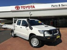 2014 Toyota Hilux KUN26R MY14 SR (4x4) White 5 Speed Manual Dual Cab Chassis Dubbo Dubbo Area Preview