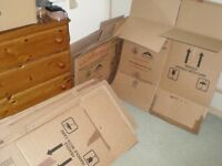 10 triple wall moving boxes 7 large 3 smaller vgc, only used once - collect Near Chipping Norton