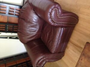 Leather sofa and armchair - great deal!