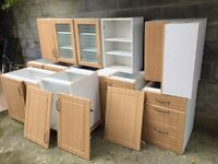 B&Q kitchen cabinets for sale  Carmarthenshire