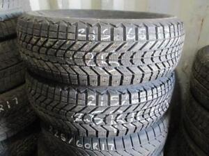 215/65 R17 FIRESTONE WINTERFORCE WINTER TIRES USED SNOW TIRES (SET OF 2) - APPROX. 85% TREAD