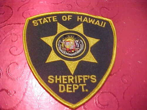 HAWAII STATE SHERIFF POLICE PATCH SHOULDER SIZE UNUSED