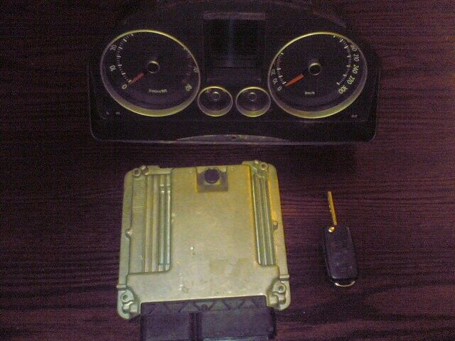 golf 5 gti ''ECU'' clock,key, set