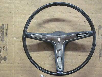 Original 73 Pontiac LeMans Steering Wheel Wood Grain GM BONNEVILLE CATALINA 74