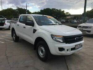 2015 Ford Ranger PX XL Double Cab White 6 Speed Sports Automatic Utility Maryborough Fraser Coast Preview