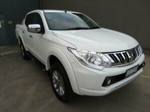 2016 Mitsubishi Triton GLS White Manual Dual Cab Utility South Geelong Geelong City Preview