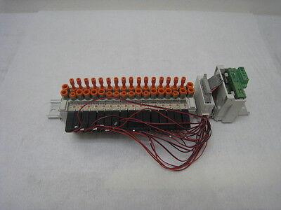 SMC EX121-SDN1, Devicenet serial interface unit w 16 SMC VQ1171-5SL-CO solenoids