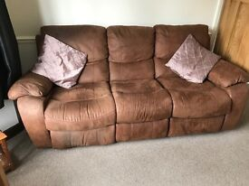 3 seater double recliner