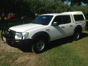 2007 Ford Ranger PJ XL Crew Cab White Automatic Utility Greenslopes Brisbane South West Preview
