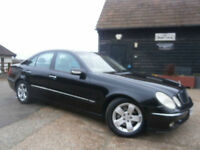 0353 MERCEDES-BENZ E320 3.2 AUTOMATIC AVANTGUARDE 4DR BLACK/SAND LEATHER 75KFSH