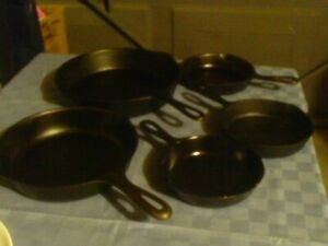 Cast Iron Pans Skillets and Bacon Press $15 Up
