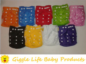 Giggle Life Cloth Diapers - Baby 7-36 lbs, Youth & Adult Sizes Cornwall Ontario image 7