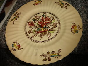"""LARGE PLATE, by  Wade, England.fancy design and style'hEDGEROW"""""""