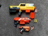 3 Nerf guns 3 Nerf guns- Elite Firestrike, Elite Stryfe, Deploy CS-6 plus 1 mag & 6 bullets.