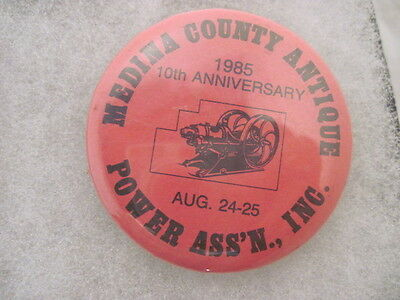 OLD VINTAGE 1985 POWER ASS'N TRACTOR PINS PINBACKS COLLECTIBLE 10TH ANNIVERSARY