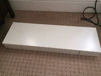 White Floating Shelf with Drawer