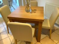 4 cream leather chairs from Next for kitchen area