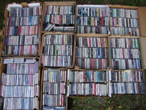 "over 600 Cassette Tapes from 70's, 80's, 90's selling as a ""Lot"""