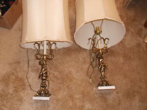 Vintage Cherubs Lamps Great working order. Vintages Pieces