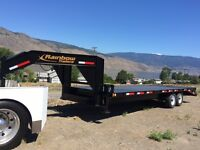 25' Rainbow Equipment Trailer Goose Neck 14 K GVW (5 ft dove)