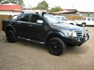2012 Ford Ranger PX XLT Double Cab Grey & Black Woodend Ipswich City Preview