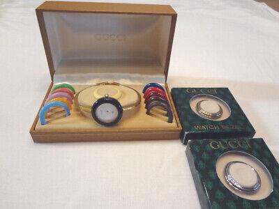 Vintage Genuine Gucci Waistwatch - Interchangeable Bezels -11/12 In Box + Bezels